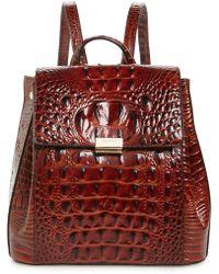 Brahmin - Margo Croc Embossed Leather Backpack - Lyst