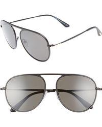 5d11f0ad4c55 Lyst - Tom Ford Sabrina Sunglasses in Black