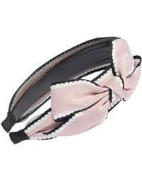 Cara | Big Bow Stripe Headband | Lyst