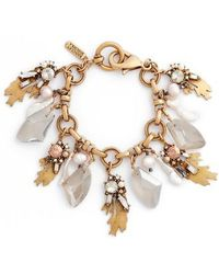 Badgley Mischka - Crystal & Pearl Bracelet - Lyst