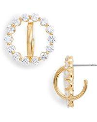 Nadri - Orbit Cubic Zirconia Earrings - Lyst