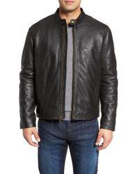 Cole Haan - Lambskin Leather Moto Jacket - Lyst