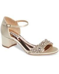 Badgley Mischka | Mareva Ankle Strap Block Heel Sandal | Lyst