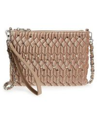 Chelsea28 - Lily Quilted Velvet Clutch - Lyst