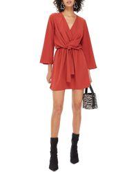 TOPSHOP - Tiffany Knot Minidress - Lyst