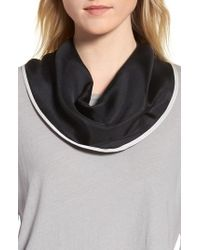 Echo - Contrast Edge Diamond Cut Silk Scarf - Lyst