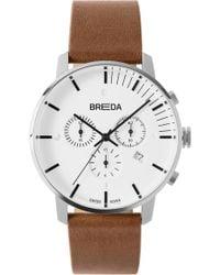 f8f50df167e Breda - Phase Chronograph Italian Leather Strap Watch - Lyst