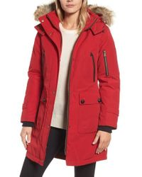 Pendleton - 'jackson' Hooded Down Parka With Genuine Coyote Fur Trim - Lyst