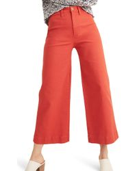 Madewell - Tall Emmett Wide-leg Crop Pants - Lyst