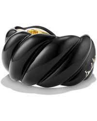David Yurman - 'sculpted Cable' Resin Cuff Bracelet With 18k Gold - Lyst