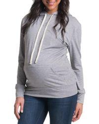 Bun Maternity - 'cozy' Maternity/nursing Hoodie - Lyst