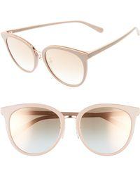 f0572aa37d2a Stella McCartney - 57mm Round Sunglasses - Nude/ Pink - Lyst