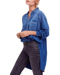Free People - Love This Cotton Henley Top - Lyst