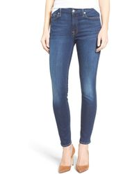 7 For All Mankind - 7 For All Mankind 'b(air) - The Ankle' Skinny Jeans - Lyst