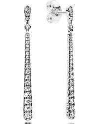 PANDORA - Shooting Stars Linear Earrings - Lyst