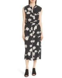 Vince - Chrysanthemum Print Silk Jumpsuit - Lyst