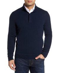 Monte Rosso - Cashmere Quarter Zip Sweater - Lyst