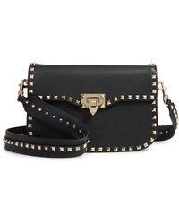Valentino - Rockstud Leather Shoulder Bag - - Lyst