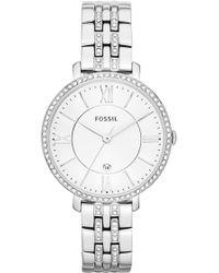 Fossil - 'jacqueline' Crystal Bezel Bracelet Watch - Lyst