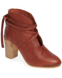 Free People - Ankle Tie Bootie - Lyst
