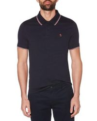Original Penguin - Space Dye Tipped Polo - Lyst