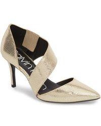 Calvin Klein - 'gella' Pointy Toe Pump - Lyst