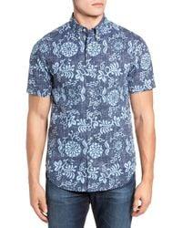 Reyn Spooner - Royal Chrysanthemums Regular Fit Sport Shirt - Lyst