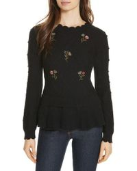 Kate Spade - Embroidered Sweater - Lyst