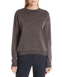 BOSS - Funday Metallic Wool Blend Sweater - Lyst