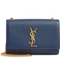 a3f86fad059 Lyst - Saint Laurent  small Monogram  Crossbody Bag in Metallic