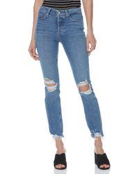 PAIGE - Hoxton High Waist Ankle Peg Jeans - Lyst