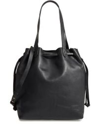 Madewell - Medium Transport Leather Bucket Bag - Lyst