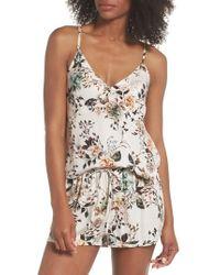 Lacausa - Floral Poppy Short & Camisole Pyjamas - Lyst