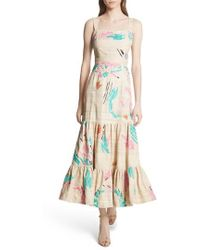 Tracy Reese - Tiered Silk Embroidered Maxi Dress - Lyst