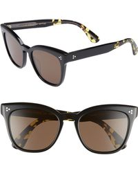 c18b091843 Lyst - Oliver Peoples Brodsky 55 Vfx+ Polarized Sunglasses in Black