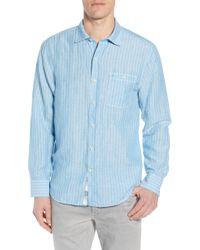 Tommy Bahama - Sand Stripe Linen Blend Sport Shirt - Lyst