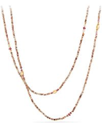 David Yurman - Mustique Beaded 18k Necklace With Andalusite - Lyst