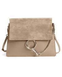Chloé - Faye Suede & Leather Shoulder Bag - Lyst
