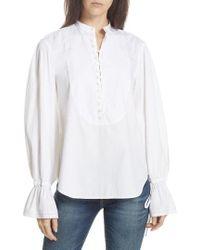 Polo Ralph Lauren - Tie Sleeve Shirt - Lyst