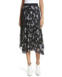 Rebecca Taylor - Pleated Hydrangea Skirt - Lyst