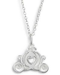 Disney - Princess Cinderella Carriage Pendant Necklace - Lyst
