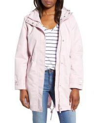 Joules - Right As Rain Long Line Hooded Waterproof Raincoat - Lyst