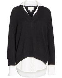 Brochu Walker - V-neck Layered Pullover - Lyst