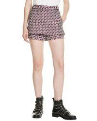 Maje - Jacquard Skirt Front Shorts - Lyst