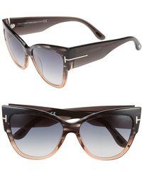8721bd1df7 Lyst - Tom Ford Sunglasses Ft 0371 Anoushka 01z Shiny Black ...