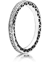 PANDORA - Hearts Of Eternity Stacking Ring - Lyst