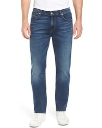 7 For All Mankind - 7 For All Mankind The Straight - Luxe Performance Slim Straight Leg Jeans - Lyst