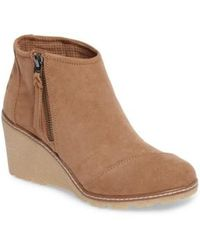 TOMS - Avery Wedge Bootie - Lyst