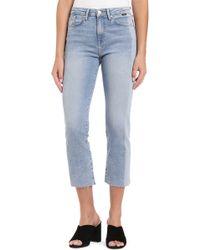 Mavi Jeans - Niki Colorblock Raw Hem Crop Jeans - Lyst