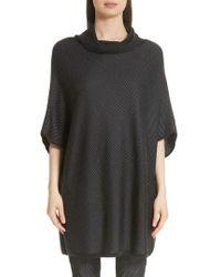 St. John - Twill Matte Shine Jacquard Knit Sweater - Lyst